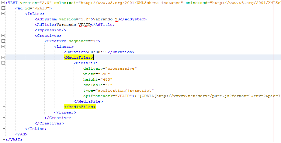 VAST XML Sample